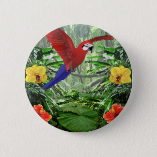 Tropical Rain Forest 6 Cm Round Badge