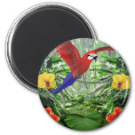 Tropical Rain Forest 6 Cm Round Magnet