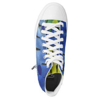 'Tropical Rain' on a pair of Sneakers! High Tops
