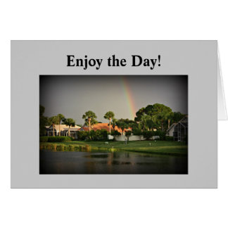 Tropical Rainbow Florida Lake Card