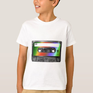 Tropical Rainbow Label Cassette T-Shirt