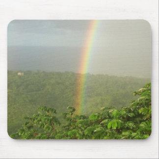 Tropical Rainbow Mouse Pad