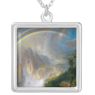 Tropical Rainbow Painting Necklace