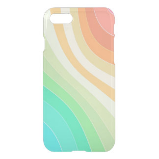 Tropical Rainbow Pastel Stripes iPhone 7 Case