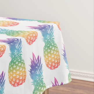 Tropical rainbow pineapple pattern tablecloth