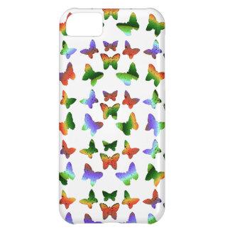 Tropical Rainbow Swirl Butterflies iPhone 5C Cases