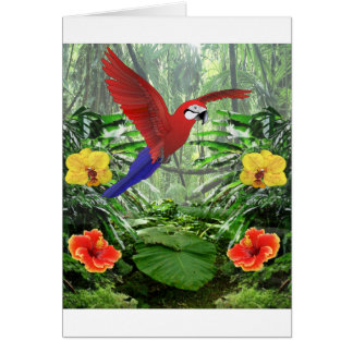 Tropical Rainforest Greeting Cards