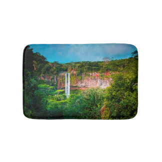 Tropical Rainforest Waterfall Bath Mat