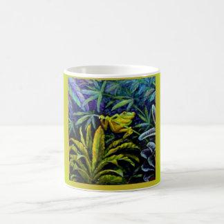 Tropical Red eyed Tree Frog by Sharles Basic White Mug