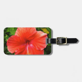 Tropical Red Hibiscus Bonita Springs Florida Luggage Tag