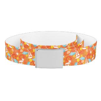 Tropical Sailboat Pattern Belt