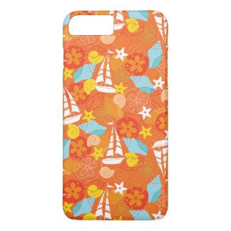 Tropical Sailboat Pattern iPhone 8 Plus/7 Plus Case