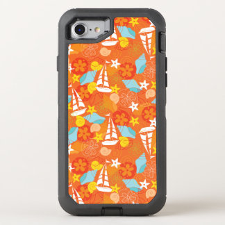 Tropical Sailboat Pattern OtterBox Defender iPhone 7 Case