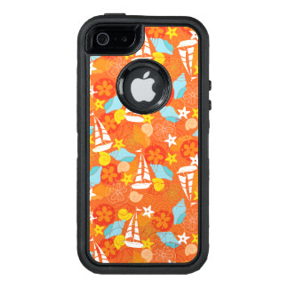 Tropical Sailboat Pattern OtterBox Defender iPhone Case