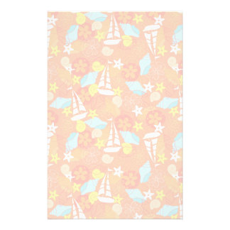 Tropical Sailboat Pattern Stationery