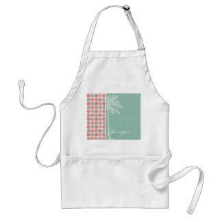 Tropical Salmon, Coral Pink, & Seafoam Adult Apron