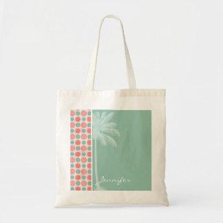 Tropical Salmon, Coral Pink, & Seafoam Tote Bag