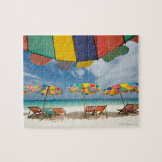 Tropical sand beach and turquoise sea. 2 jigsaw puzzle