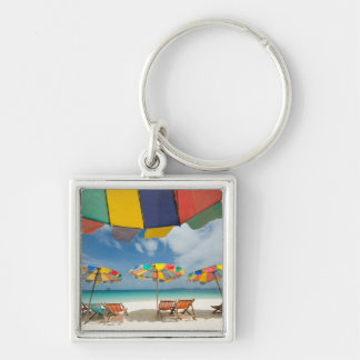 Tropical sand beach and turquoise sea. 2 key ring