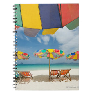 Tropical sand beach and turquoise sea. 2 notebook