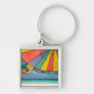 Tropical sand beach and turquoise sea. key ring