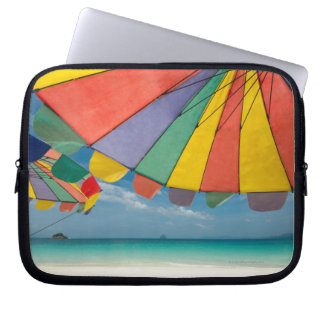Tropical sand beach and turquoise sea. laptop sleeve
