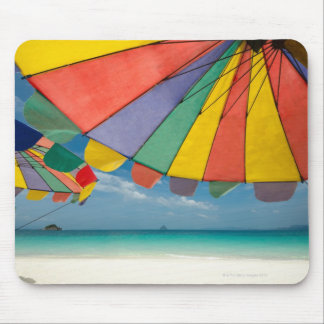 Tropical sand beach and turquoise sea. mouse mat