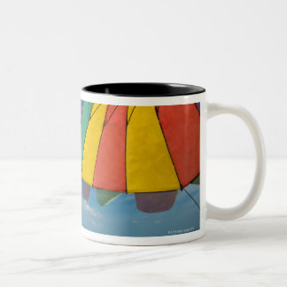 Tropical sand beach and turquoise sea. Two-Tone coffee mug