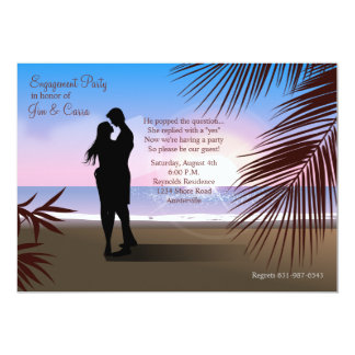 Tropical Sands Engagement Invitation/Announcement Card