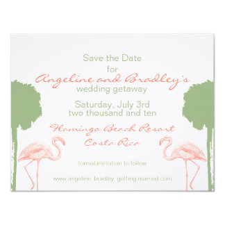 "Tropical ""Save the Date"" 11 Cm X 14 Cm Invitation Card"