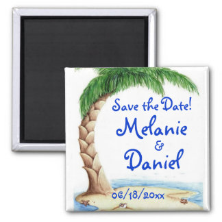 Tropical Save the Date! Fridge Magnets