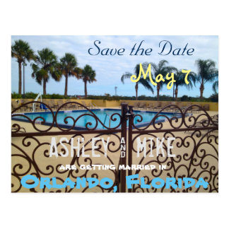 Tropical Save the Date Postcard