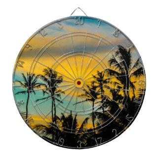 Tropical Scene at Sunset Time Dartboard