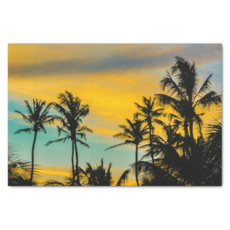 Tropical Scene at Sunset Time Tissue Paper