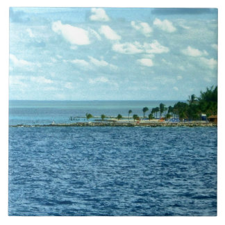 Tropical Scene Large Square Tile
