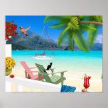 Tropical Scene Poster