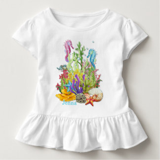 Tropical Sea Life Blue Toddler T-Shirt