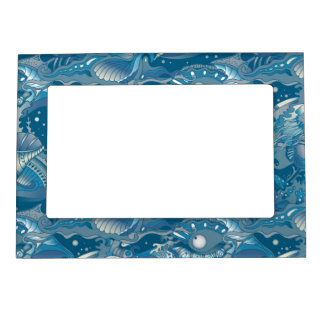 Tropical Sea Pattern Magnetic Picture Frame