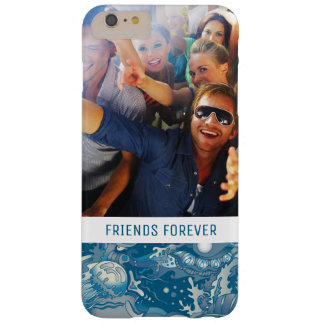Tropical Sea Pattern | Your Photo & Text Barely There iPhone 6 Plus Case