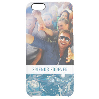 Tropical Sea Pattern | Your Photo & Text Clear iPhone 6 Plus Case