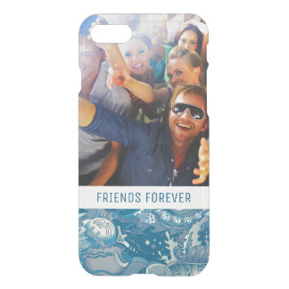 Tropical Sea Pattern | Your Photo & Text iPhone 8/7 Case