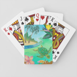 Tropical Sea Turtle Playing Cards