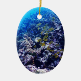 Tropical Sealife Ceramic Oval Decoration