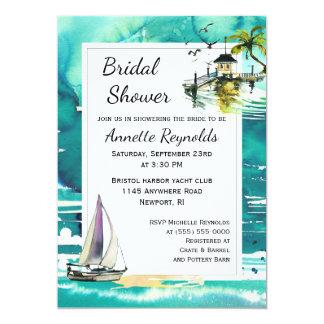 Tropical Seascape Bridal Shower Invitation