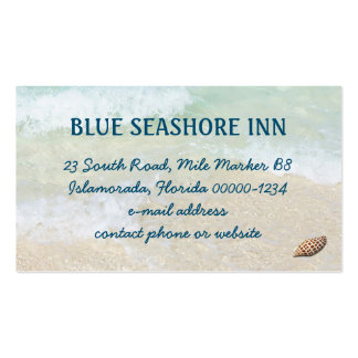 Tropical Seashore Business Advertising Pack Of Standard Business Cards