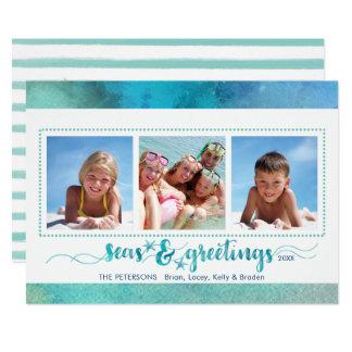 Tropical SEAson's Greetings, Handwrite Option Back Card