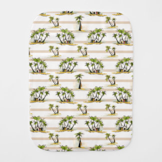 Tropical Shack And Palms Burp Cloth