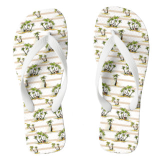 Tropical Shack And Palms Flip Flops