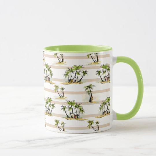 Tropical Shack And Palms Mug
