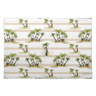 Tropical Shack And Palms Placemat